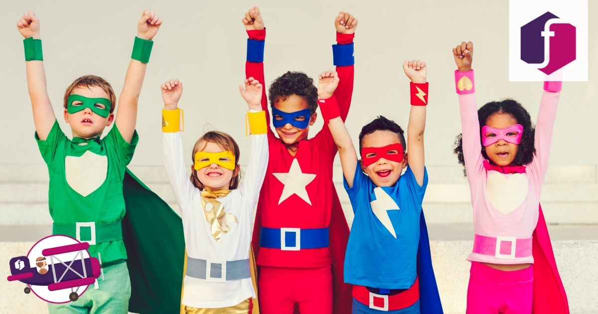 bambini supereroi diversi